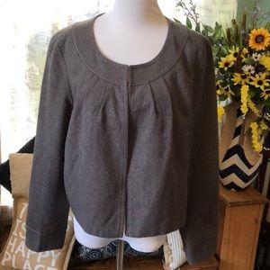 Comfortable Gray wool blend blazer sz L career